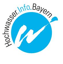 Wort-/Bildmarke Hochwasserinfo Bayern